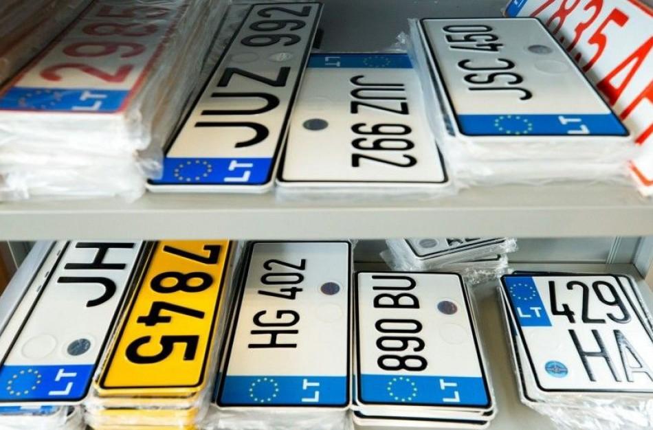 Perpus pinga motorinių transporto priemonių valstybinio numerio ženklai