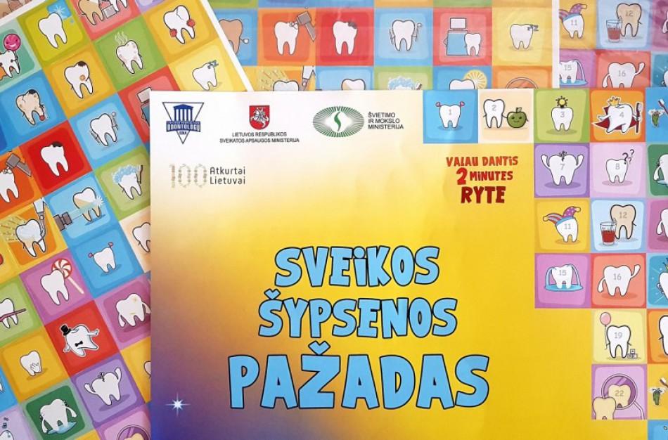 Vaikai bus skatinami pasirūpinti savo burnos sveikata