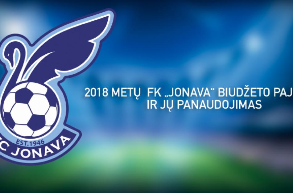 "FK ""Jonava"" viešina 2018 m. sezono biudžetą"