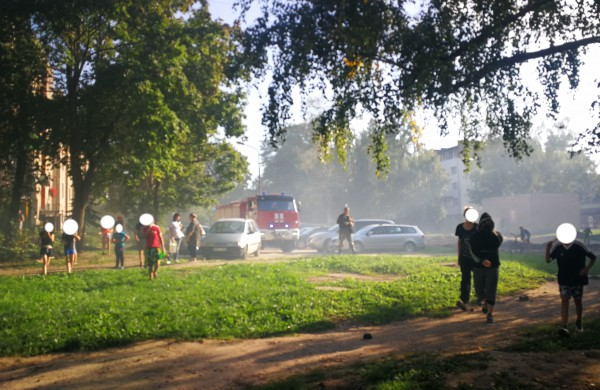 """Du gaisrai apleistame name """"paskandino"""" Ruklą dūmuose"""