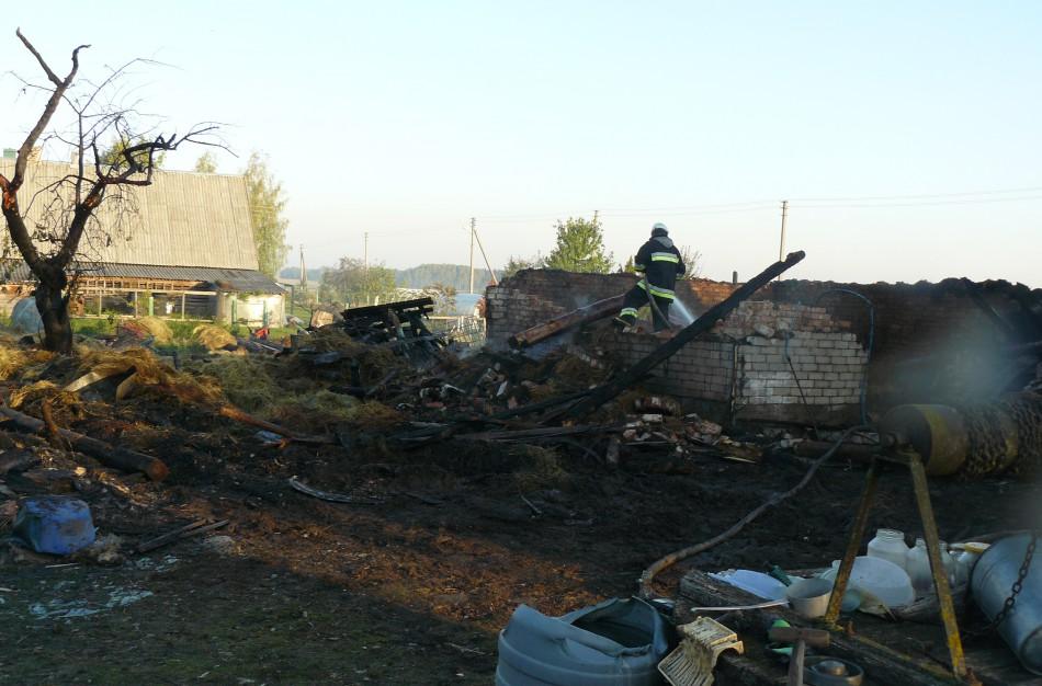 Bukonių seniūnijoje kilo du nemenki gaisrai