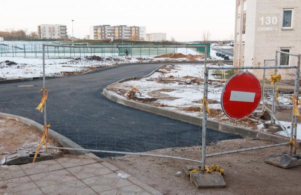 Chemikų gatvės jungtyje paklotas pirmasis asfalto sluoksnis