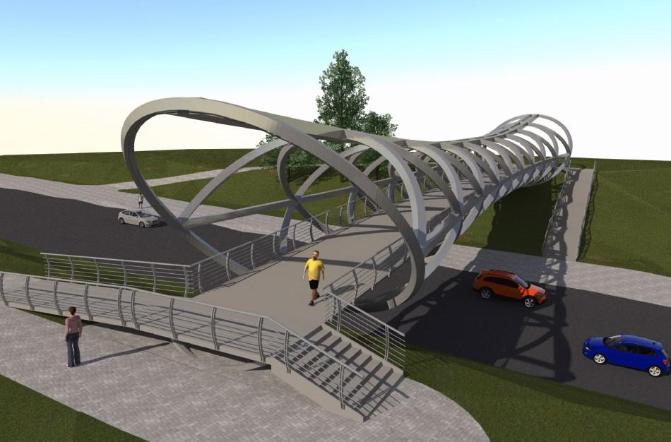 Jonavoje bus statomas modernus pėsčiųjų tiltas