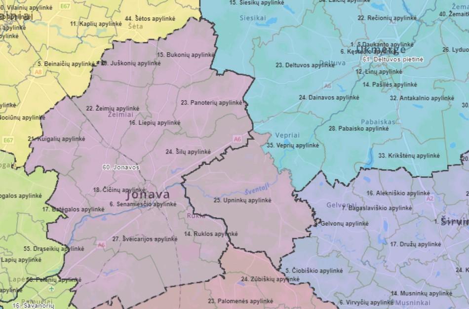 Seimo rinkimai: Upninkai priskirti Ukmergės – Deltuvos pietinei apygardai