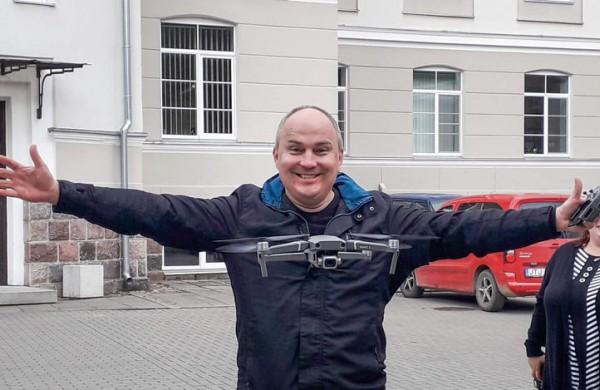 Įamžino savo miestą iš paukščio skrydžio: vaizdai užfiksuoti neįprastu dronu