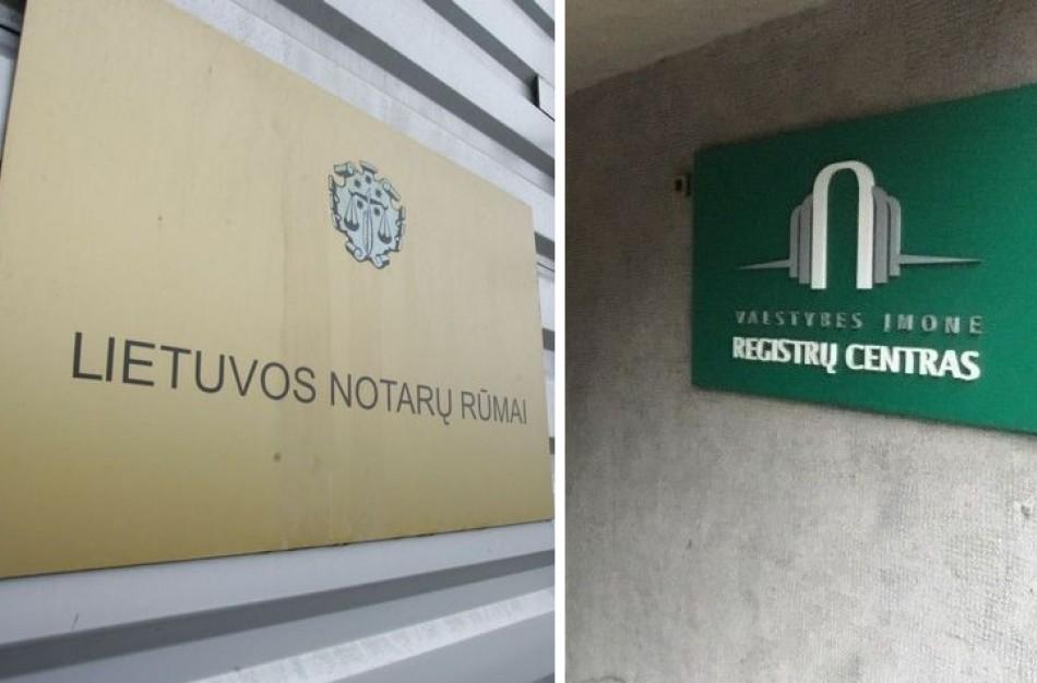 Registrų centro atsakas Notarų rūmams dėl įkainių