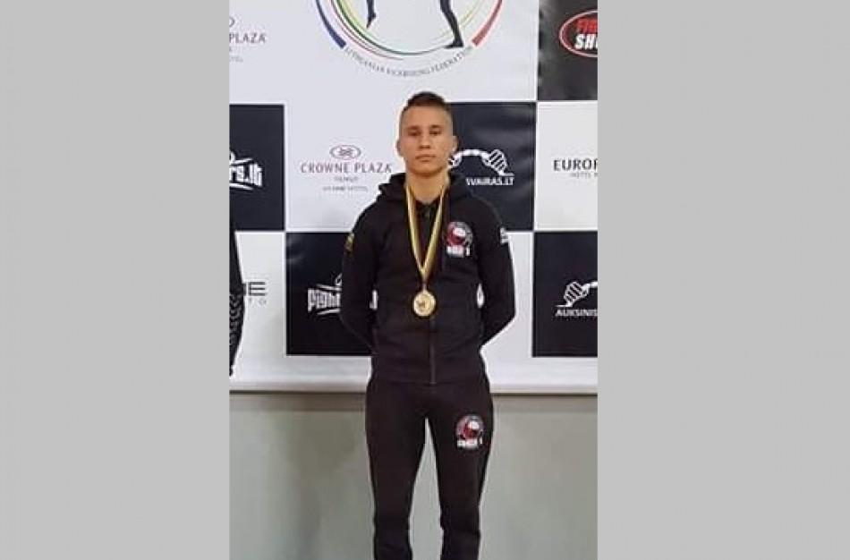 Kraštietis Natas Stupak - Pabaltijo šalių atvirojo kikbokso čempionas