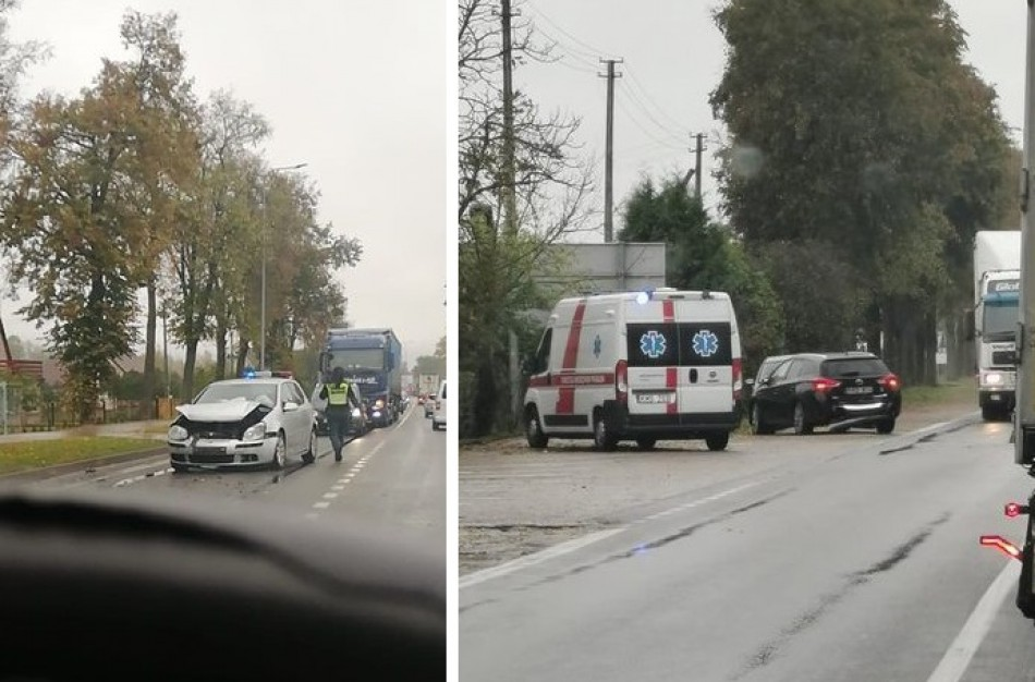 Po eismo įvykio nukentėjo 35 metų vairuotojas