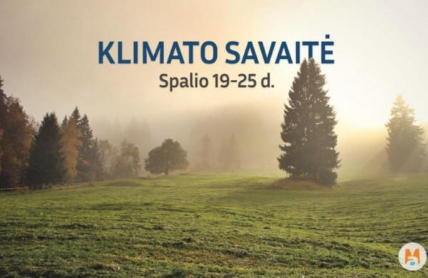 Visoje šalyje – Klimato savaitė