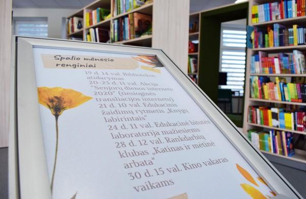 Rimkų biblioteka atvėrė atnaujintas ir modernias patalpas