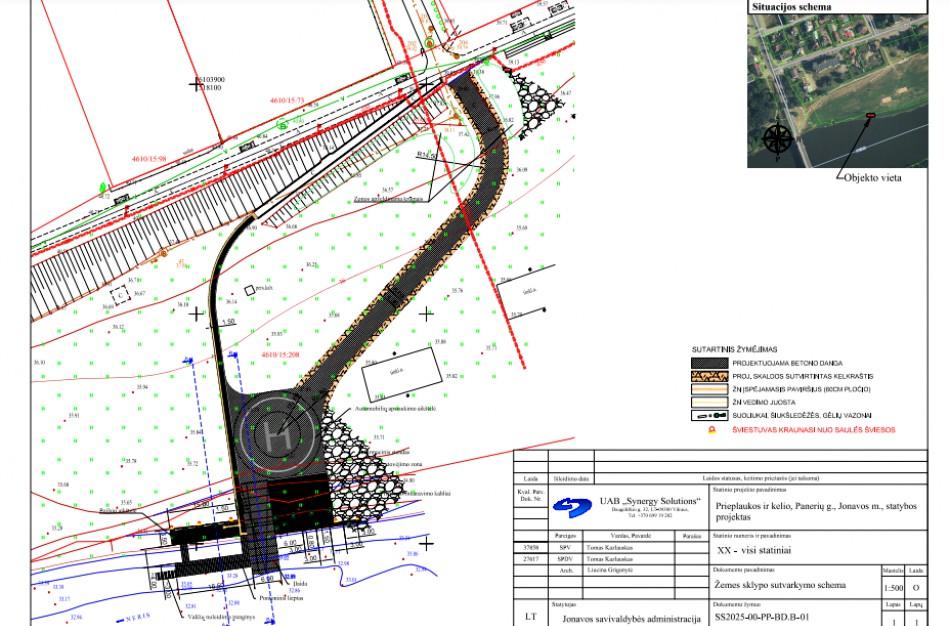 Panerių g. planuojama statyti prieplauką ir kelią – visuomenė kviečiama susipažinti su projektiniais pasiūlymais