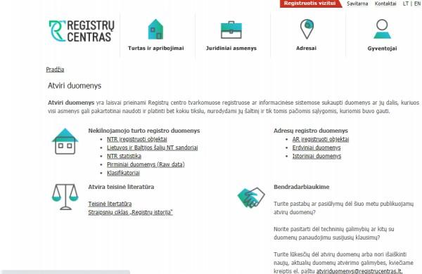 Registrų centras atvėrė Adresų registro duomenis