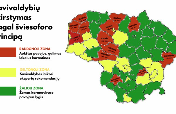 Jonavos rajone 1 naujas atvejis, savivaldybė – geltonojoje koronaviruso zonoje