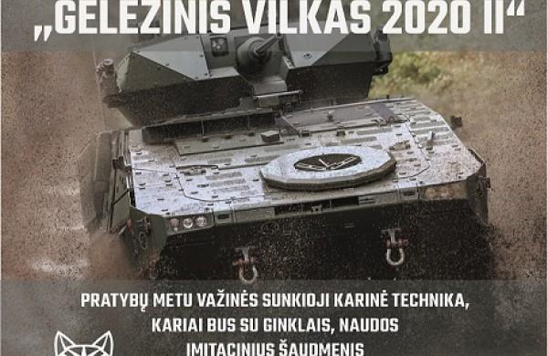 """Prasidės vertinamosios lauko taktikos pratybos """"Geležinis vilkas 2020 II"""""""