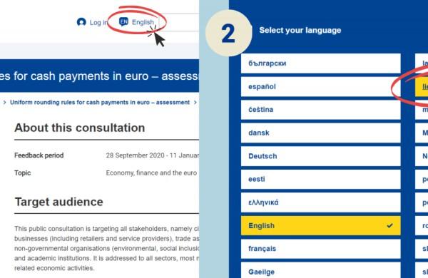 EK skelbia viešas konsultacijas dėl 1 ir 2 euro centų monetų naudojimo