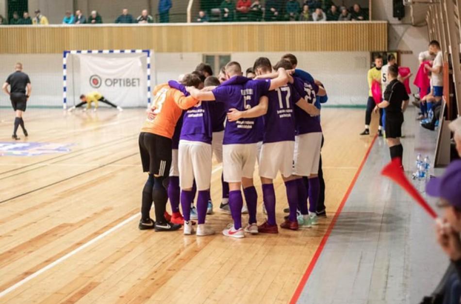 """Naująjį """"Optibet"""" Futsal A lygos sezoną """"Vikingai"""" pradėjo sunkia pergale"""
