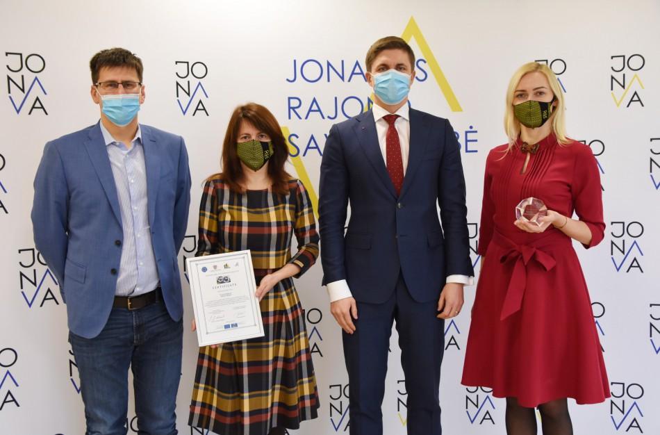 Jonavos savivaldybei - Europos Tarybos ženklas už gerą valdymą