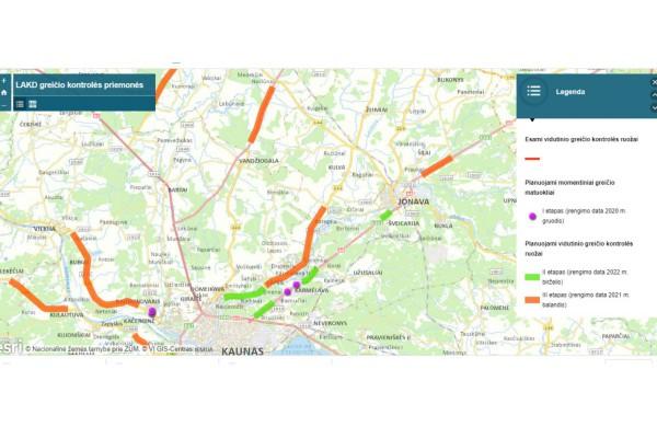 Netrukus pradės veikti nauji greičio matuokliai: ne vienas jų – ir kelyje Jonava - Kaunas