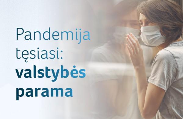 Pandemija tęsiasi: kokia valstybės parama šiemet dar galite pasinaudoti