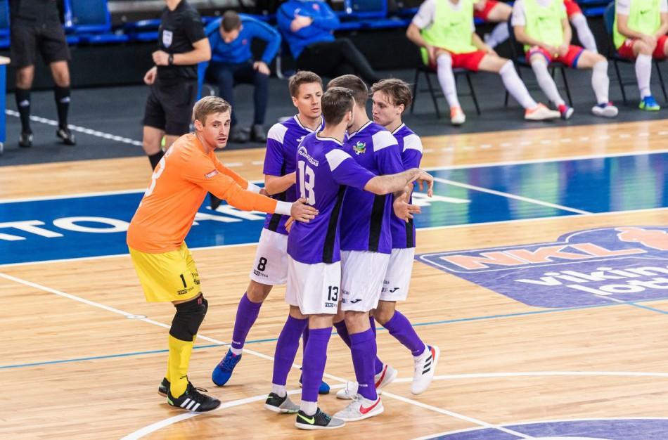 """FUTSAL: J.Jeremejevo ir R.Gedmino """"hat-trickai"""" atnešė jų klubams pergales"""