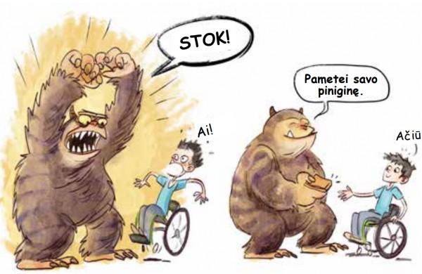 """Pasirodė pirmasis Lietuvoje iliustruotas negalių žodynas vaikams """"Žmogus su negalia irgi gali"""""""