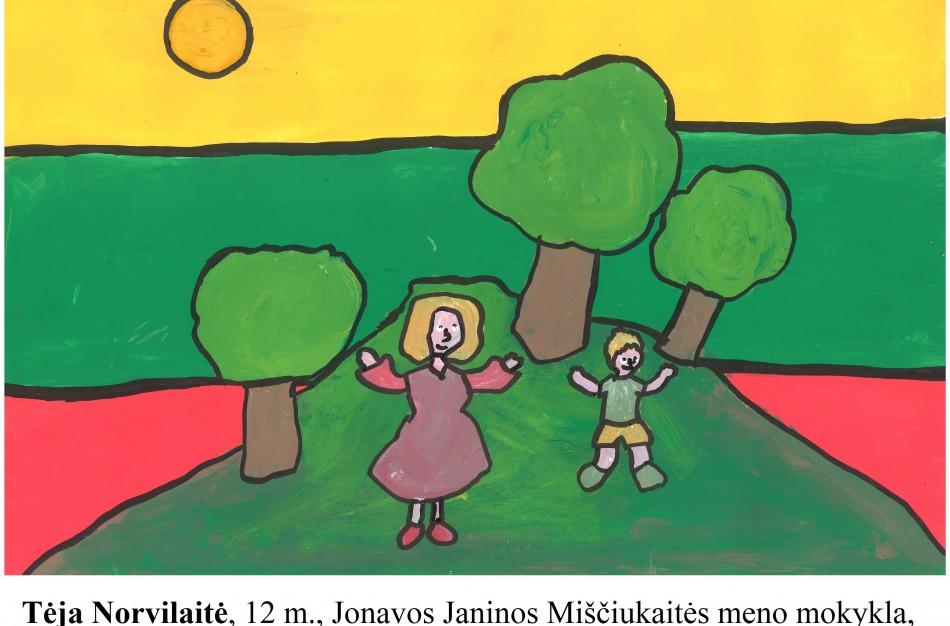 Mokinių piešiniuose – laisvės jausmo ir pilietiškumo atspindžiai. Kviečiame į virtualią parodą