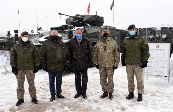 """Krašto apsaugos ministras A. Anušauskas: """"Vokietijos lyderystė itin svarbi regiono saugumui"""""""