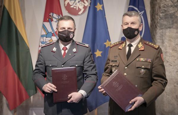 Pasirašyta Lietuvos kariuomenės ir Lietuvos Policijos bendradarbiavimo sutartis
