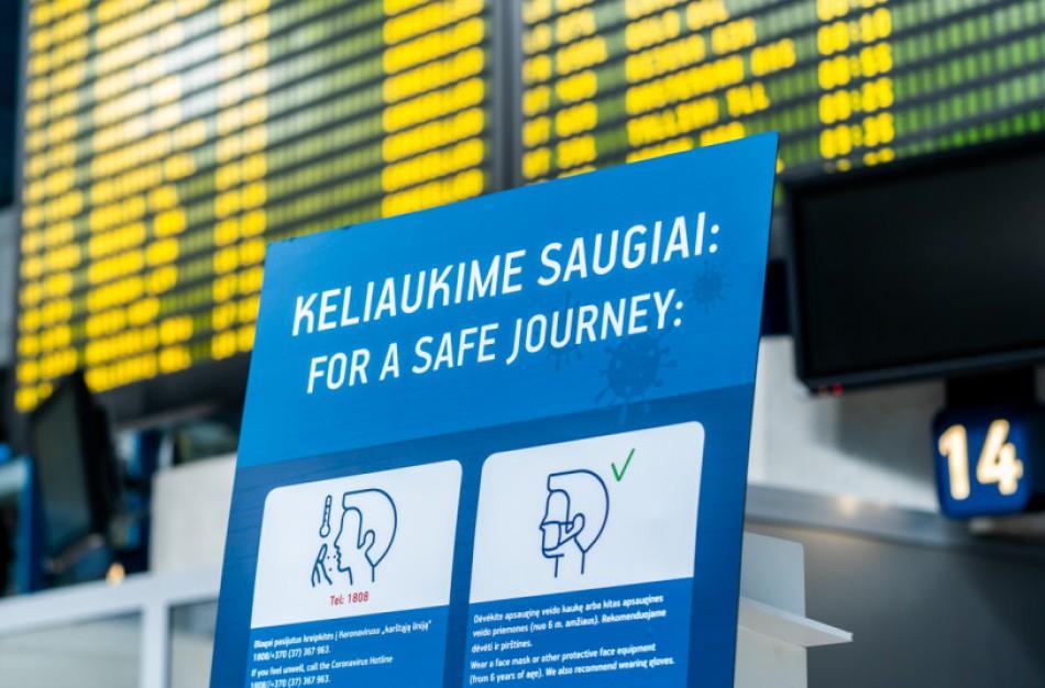 Stiprinama į Lietuvą iš užsienio atvykstančių keleivių patikra