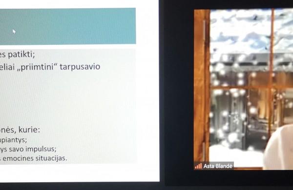 Virtuali paskaita tėvams Justino Vareikio progimnazijoje