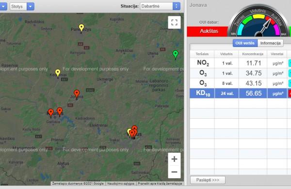 Oro užterštumas Jonavoje vis dar aukštas. Koks poveikis sveikatai?