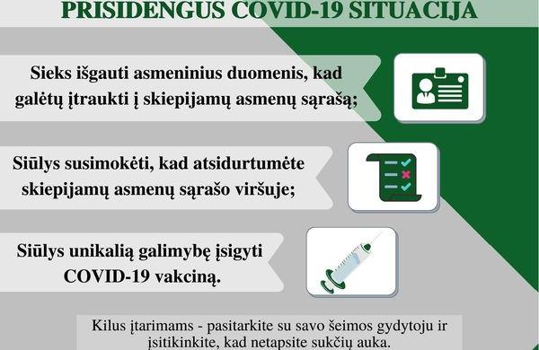 Policija perspėja apie galimus sukčiavimo atvejus prisidengus Covid - 19 situacija