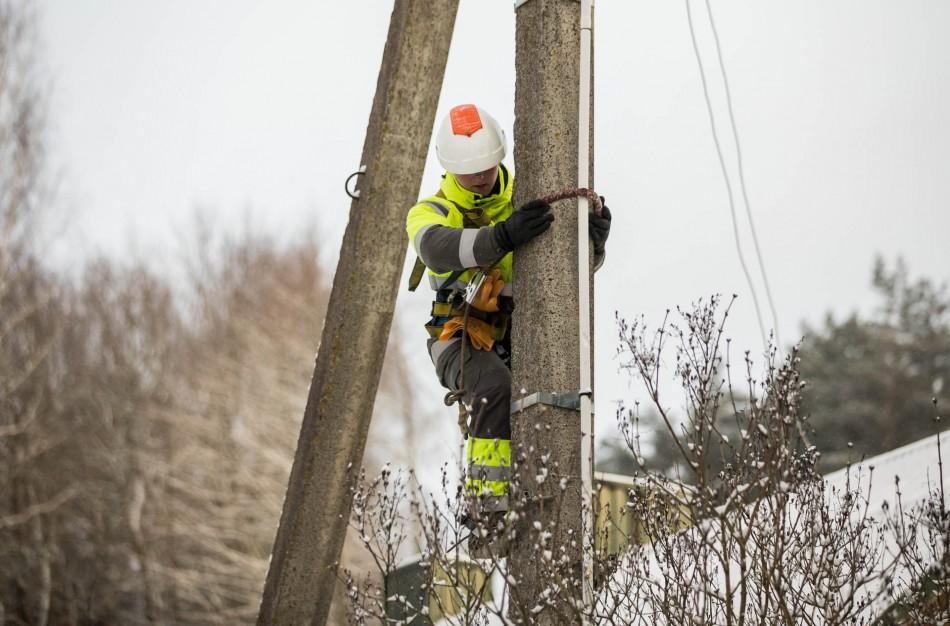 ESO tęsia planinius elektros ir dujų tinklo priežiūros darbus