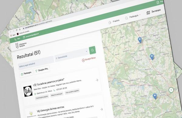 Užimtumo tarnyba sukūrė Socialinės pagalbos žemėlapį