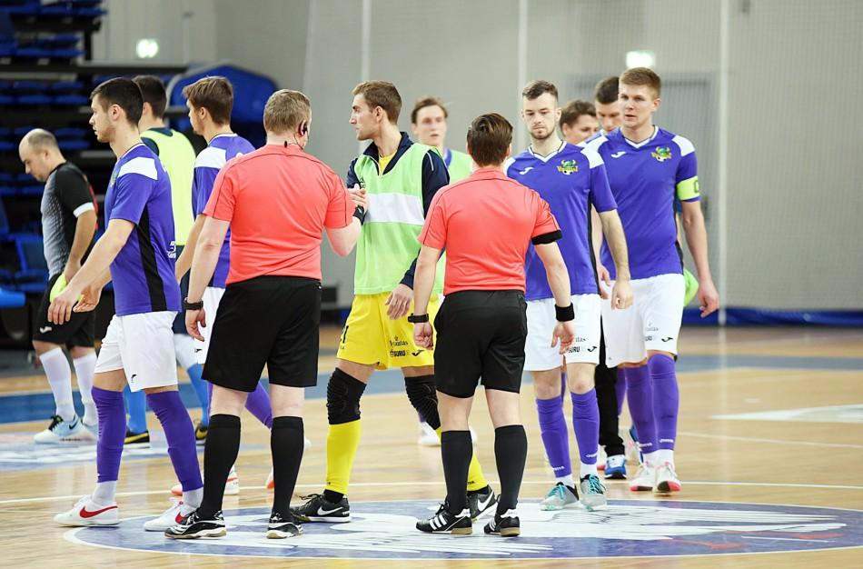 Futsal A lygos pusfinalyje – P.Osausko benefisas ir 15 įvarčių