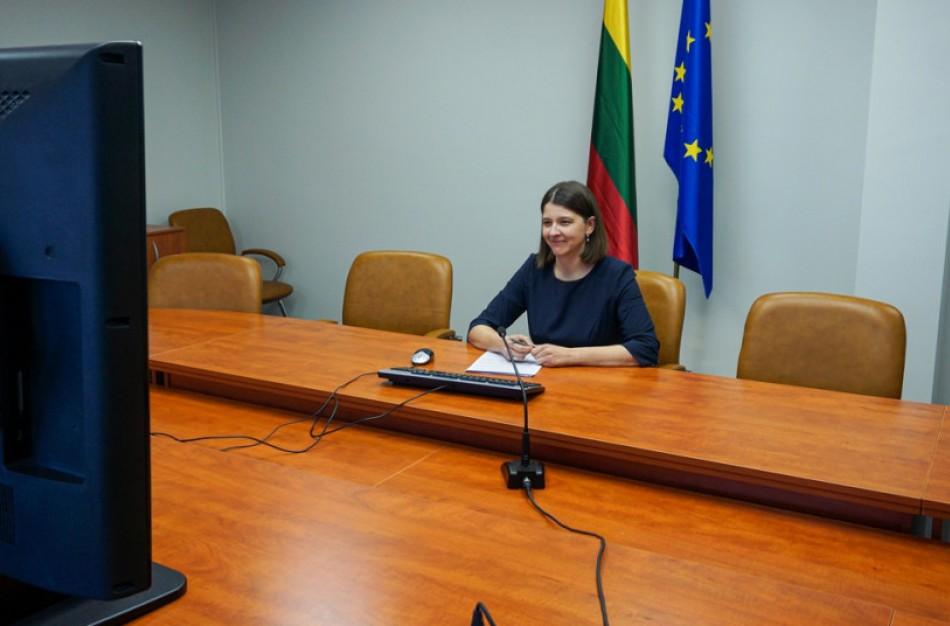 """Finansų ministrė G. Skaistė: """"Išliekant neapibrėžtumui, būtina tęsti paramos priemones ir išsaugoti darbo vietas"""""""