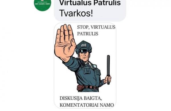 Virtualaus patrulio startas vėl parodė, kad žmonės painioja žodinius nusikaltimus su žodžio laisve