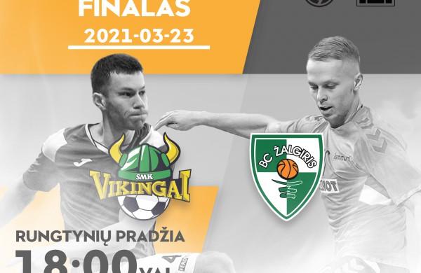 """Kauno """"Žalgirio"""" ir Jonavos """"Vikingų"""" futbolininkai antradienį pradeda dvejų rungtynių finalo seriją"""