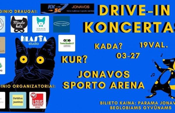 """Jonavoje - pirmasis ,,DRIVE - IN"""" koncertas, turintis ir kilnų tikslą"""
