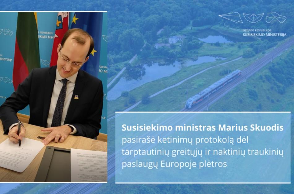 Lietuva bendradarbiaus su ES šalimis plėtodama tarptautinių greitųjų ir naktinių traukinių paslaugas