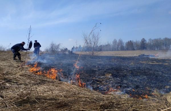 Žolės padegėjai stebimi dronais, pažeidėjams skiriamos baudos