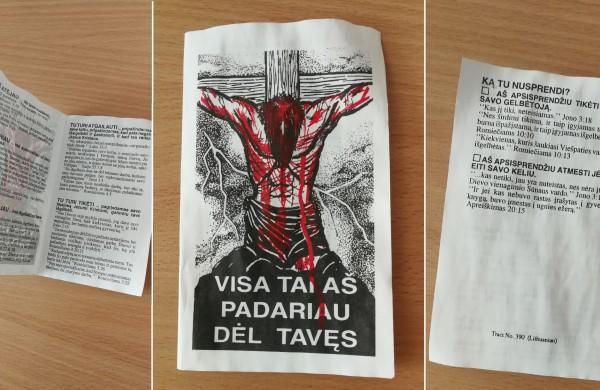 Jonavietis apie religinius lankstinukus pašto dėžutėje: ar tai tikėjimo piršimas?