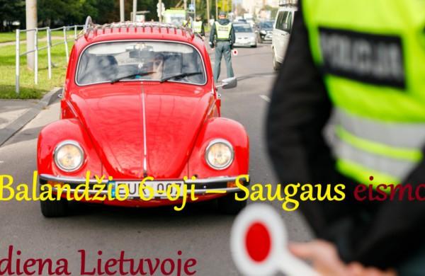 Šis antradienis – Saugaus eismo diena Lietuvoje