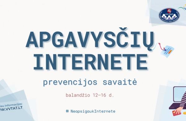 Startuoja apgavysčių internete prevencijos savaitė  – #NEAPSIGAUKINTERNETE