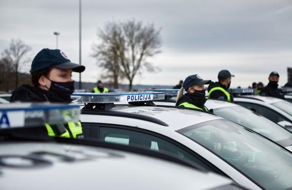Kauno apskrities policijos autoparką papildė 28 nauji automobiliai, 4 jų skirti Jonavai