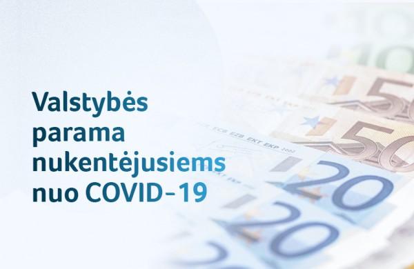 Beveik pusė milijardo eurų valstybės paramos jau pasiekė nuo COVID-19 nukentėjusius gyventojus