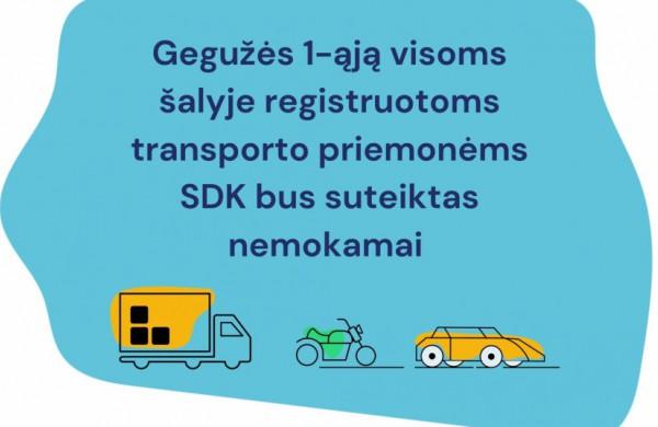 Įsigaliojus naujai transporto priemonių savininkų sistemai, iki rugsėjo bus taikomas tolerancijos laikotarpis