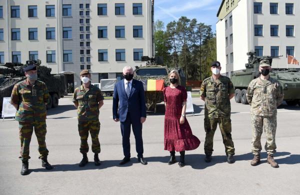 """Ministras A. Anušauskas: """"Tikimės tolesnio Belgijos dalyvavimo stiprinant NATO gynybą ir atgrasymą regione"""""""