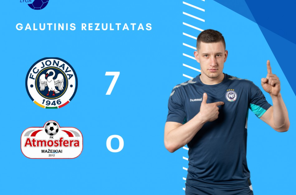 """FK """"Jonava"""" pasiekė didžiausią pergalę per penkerius metus"""