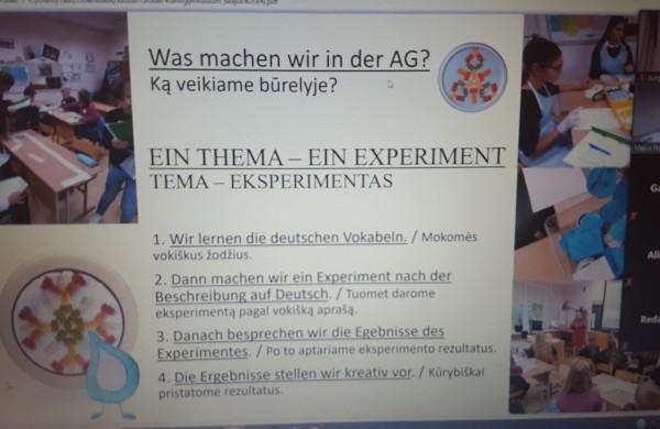 """Tarptautinė mokinių integruotų praktinių veiklų pristatymo konferencija  ,,Tiriame, mokomės vokiečių kalbos ir dalijamės"""""""